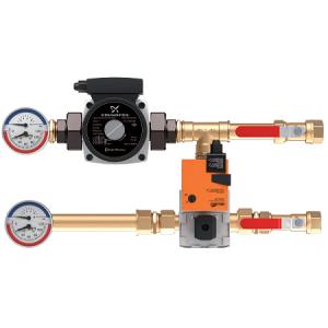 Узел регулирования тепловой мощности водяного нагревателя